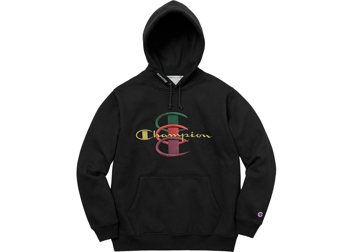 goedkoopste prijs uiterst stijlvol presenteren Supreme Champion Stacked C Hooded Sweatshirt Black