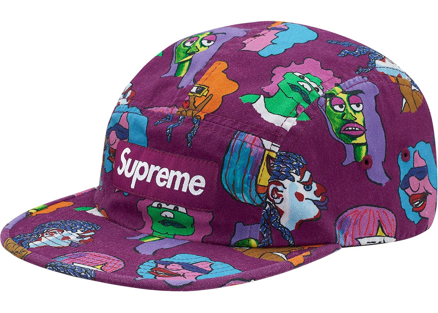 195c8688544 Supreme Gonz Heads Camp Cap Plum - StockX News