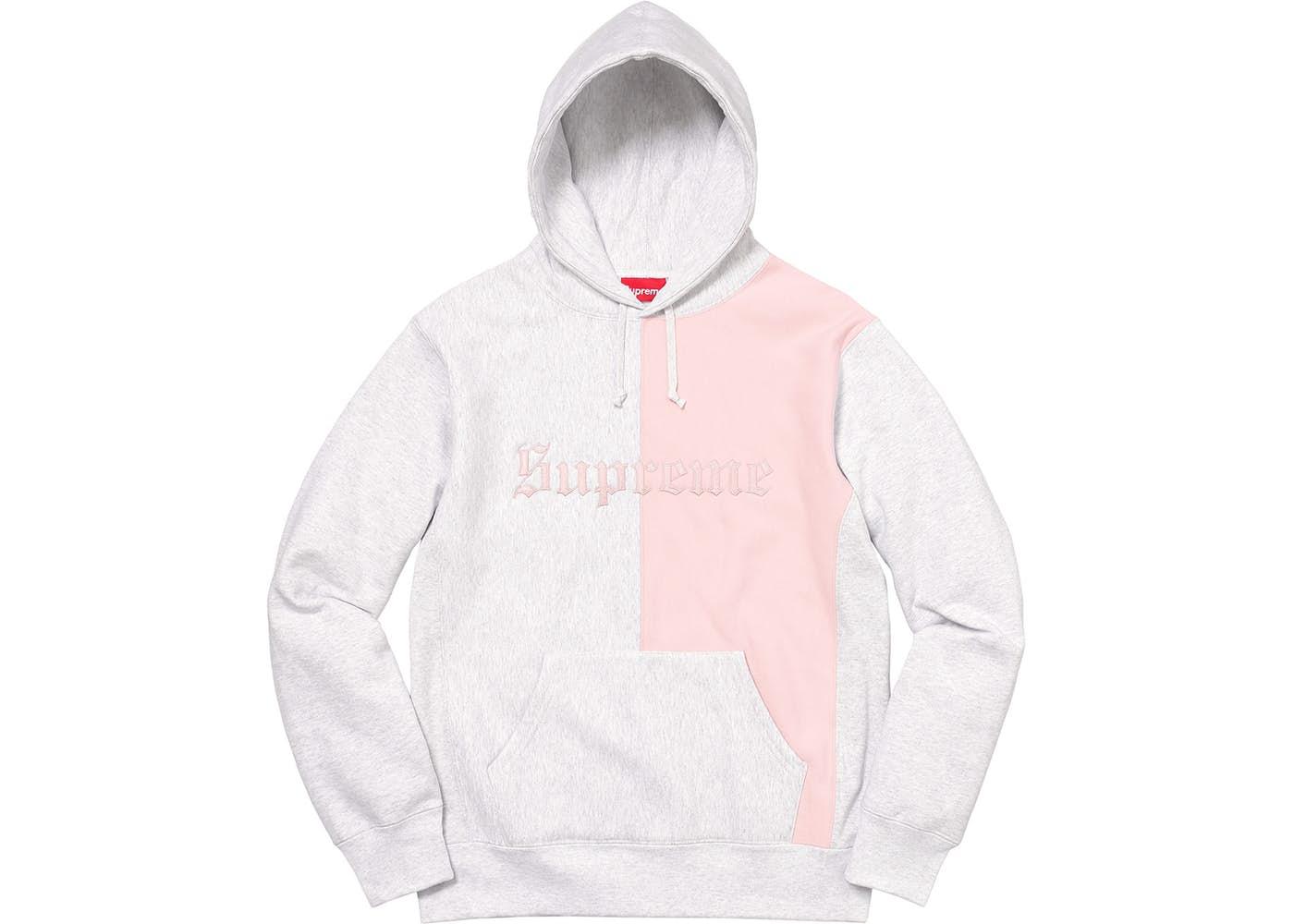 06ce1c142 Supreme Split Old English Hooded Sweatshirt Ash Grey - StockX News