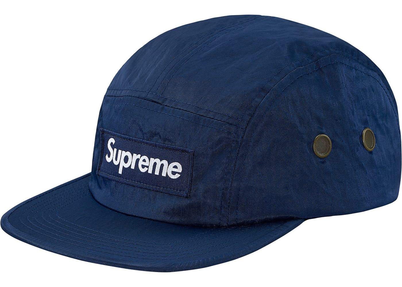 a1008fb03f5 Supreme Camp Cap Washed Nylon Navy Fall Winter 2017 Collection