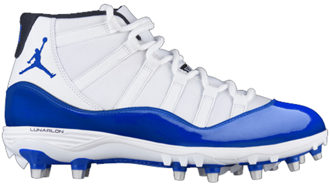 newest 99d52 11235 Air Jordan 11 Blue Cleat