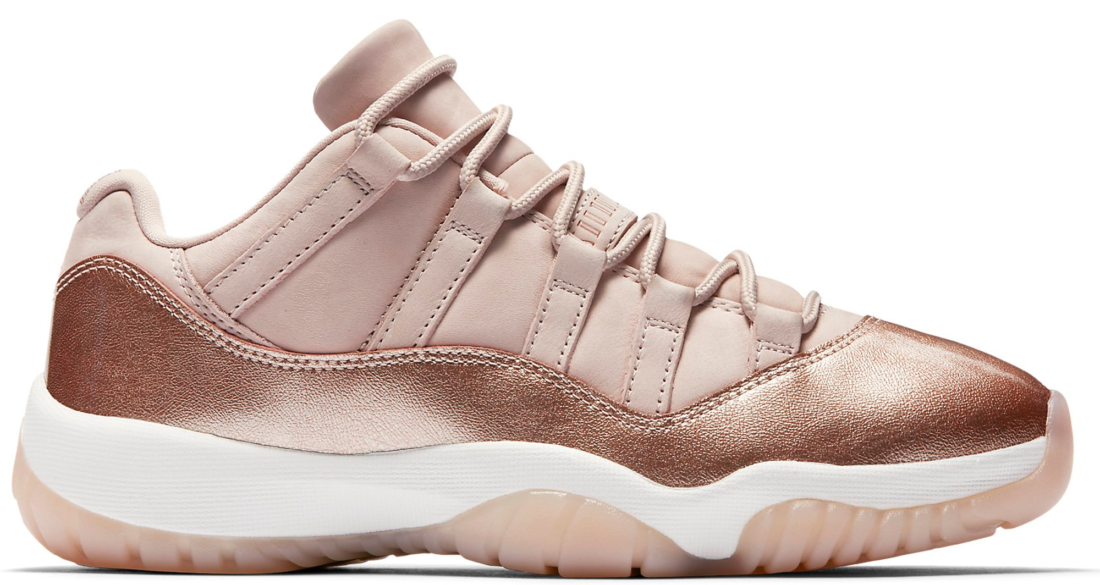 ee8953101c4eaa Women s Air Jordan 11 Low Rose Gold