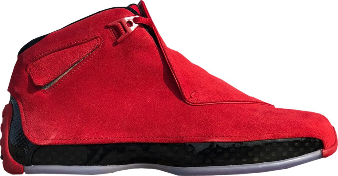 best website 7f746 58779 Air Jordan 18 Red Suede