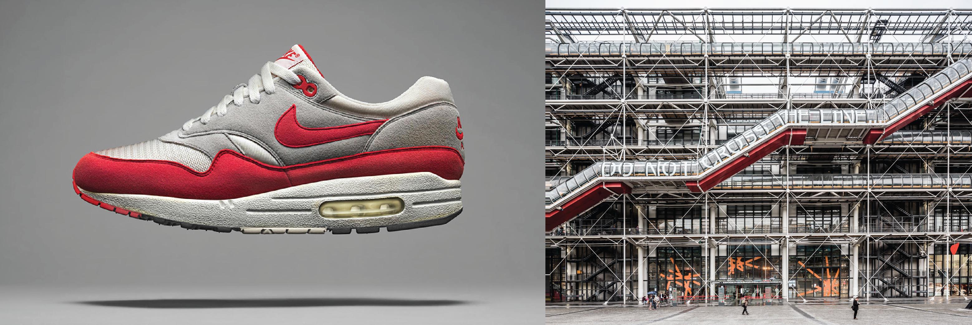 Air Max 1 and Paris Pompidou