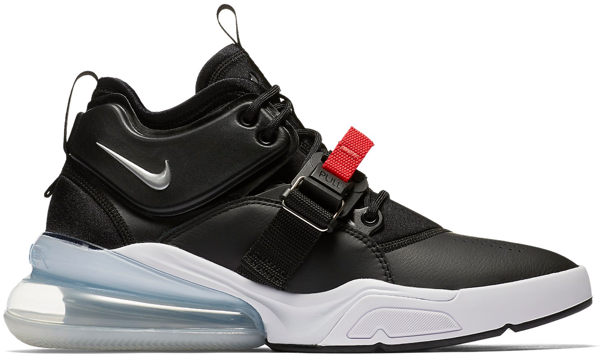 nike air force 270 black chrome white red
