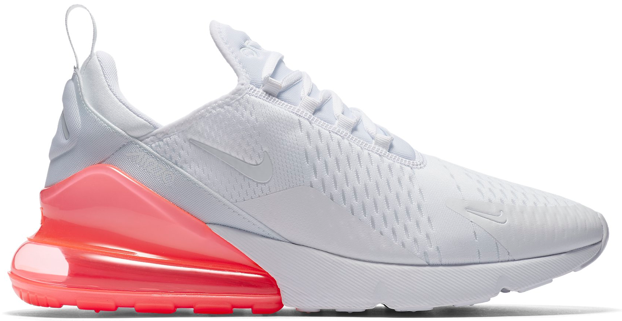 best value in stock casual shoes Nike Air Max 270 White Pack Hot Punch