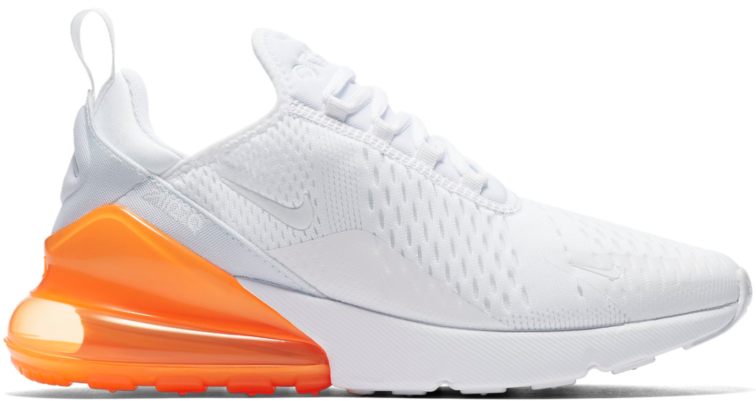 Nike Air Max 270 White Pack Total Orange
