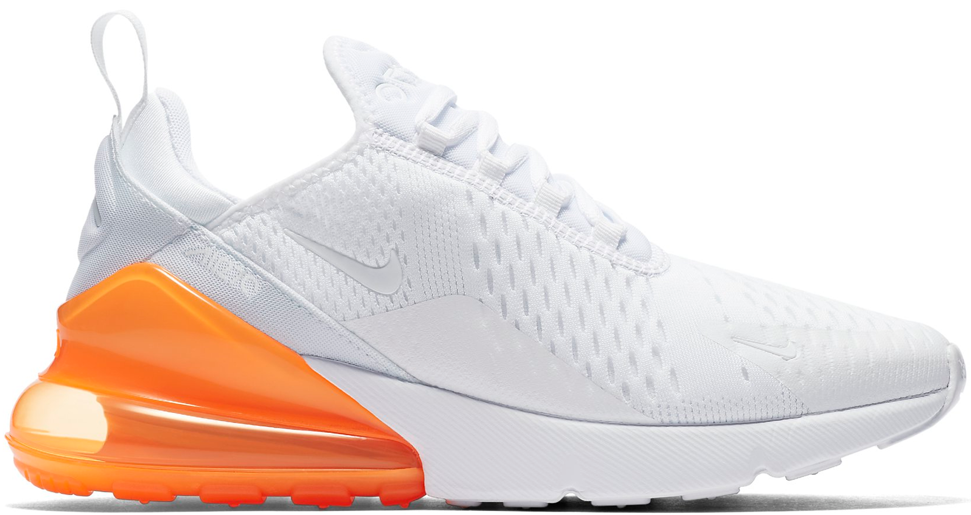 sale retailer 219b7 7584a Nike Air Max 270 White Pack Total Orange
