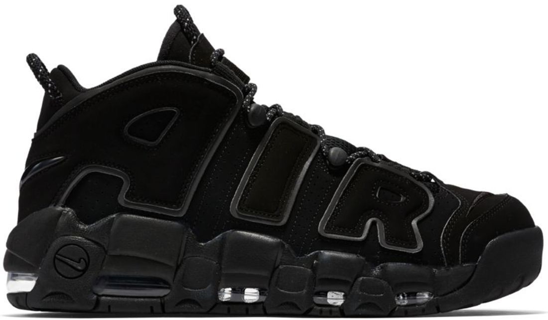 hot sale online united states buying new Nike Air More Uptempo Triple Black
