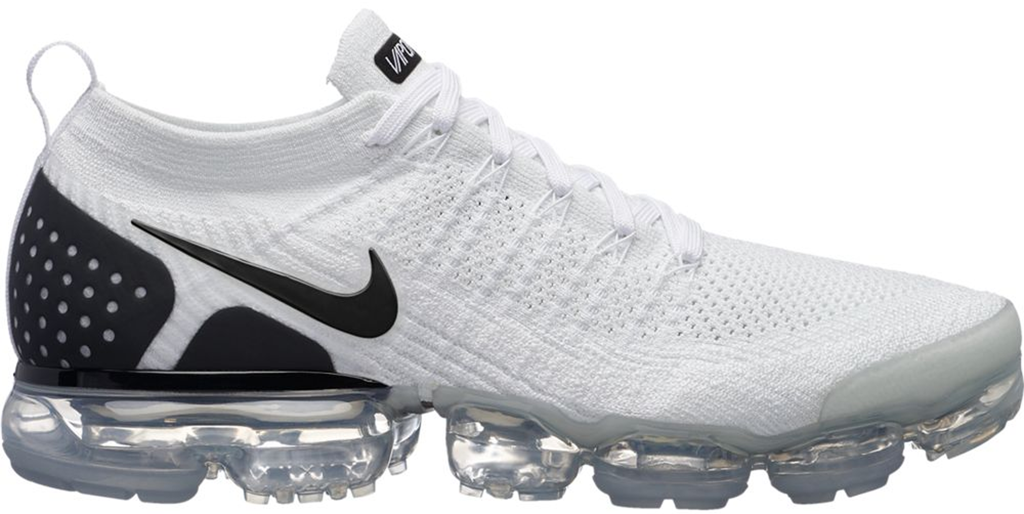 newest 88450 0217a Nike Air VaporMax Flyknit 2 White Black