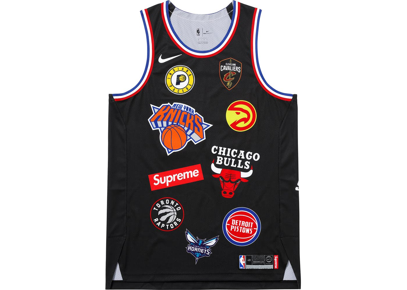 Supreme Nike NBA Teams Authentic Jersey Black Spring Summer 2018 7db7d5eb9
