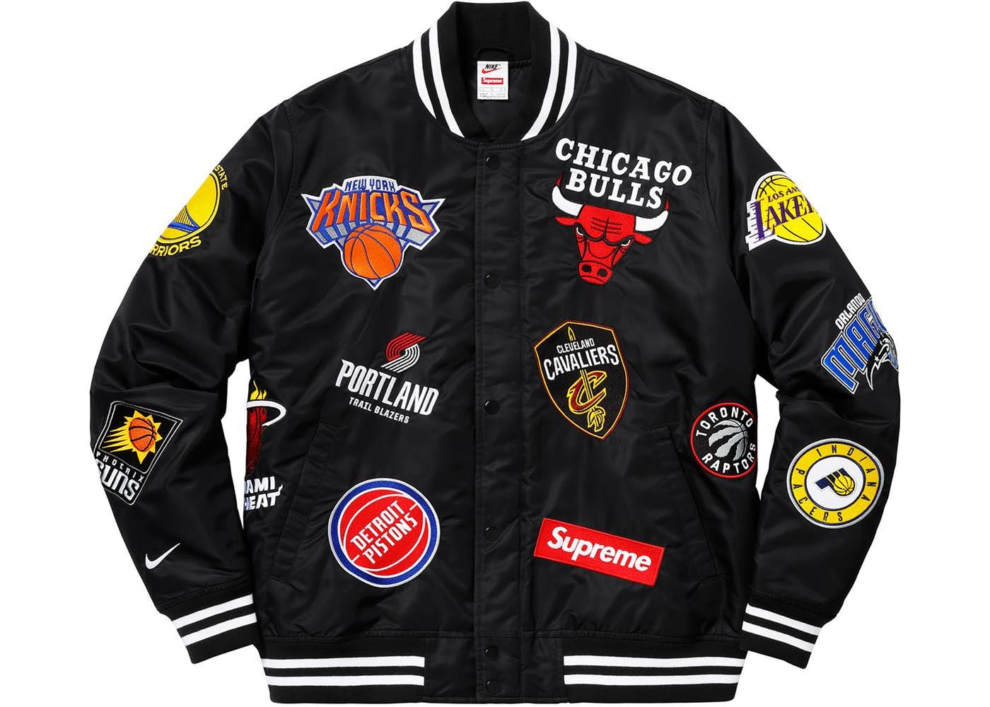 Supreme Nike NBA Teams Warm-Up Jacket Black Spring Summer 2018 1b71b1161