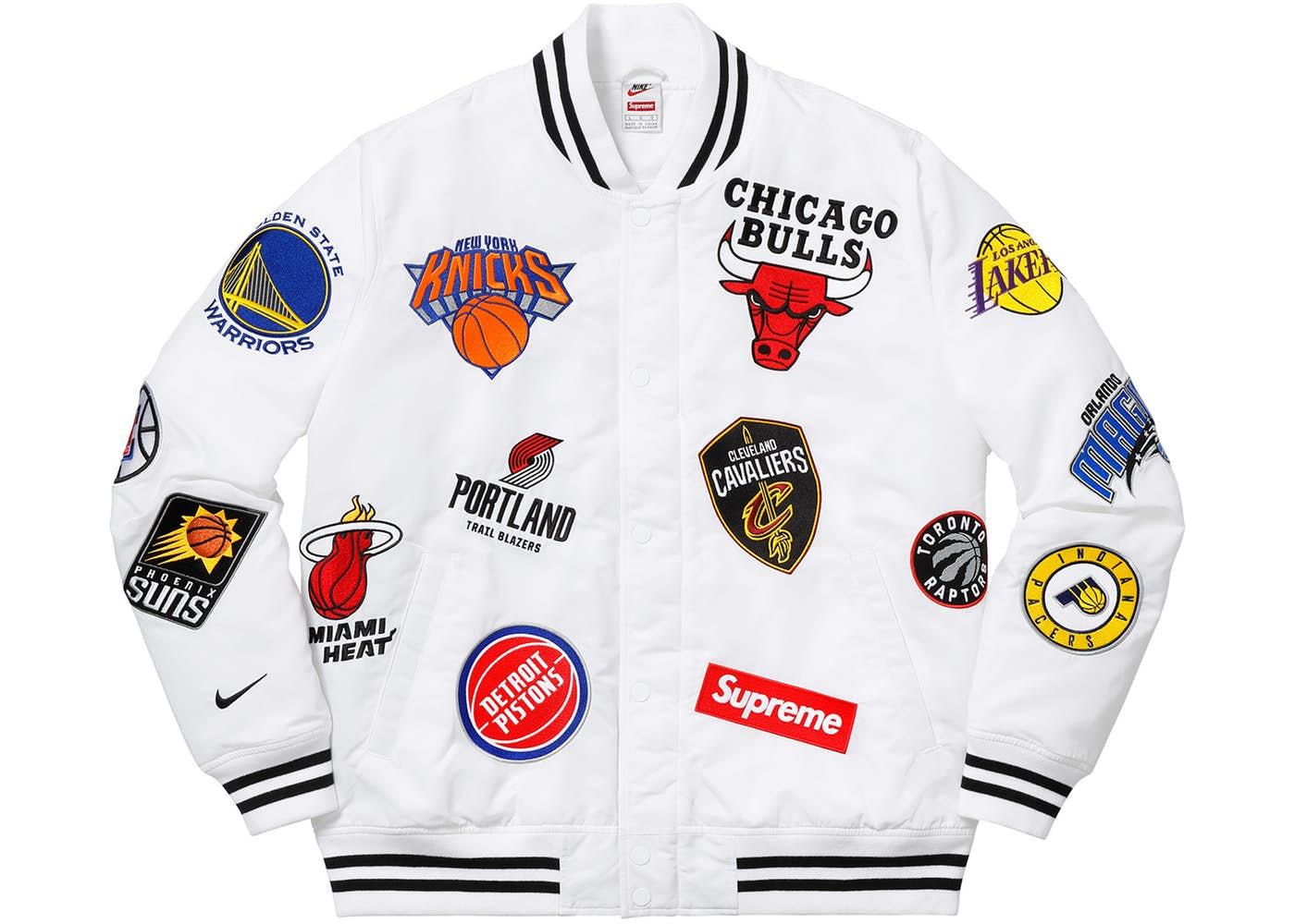 Supreme Nike NBA Teams Warm-Up Jacket White Spring Summer 2018 e37711a80