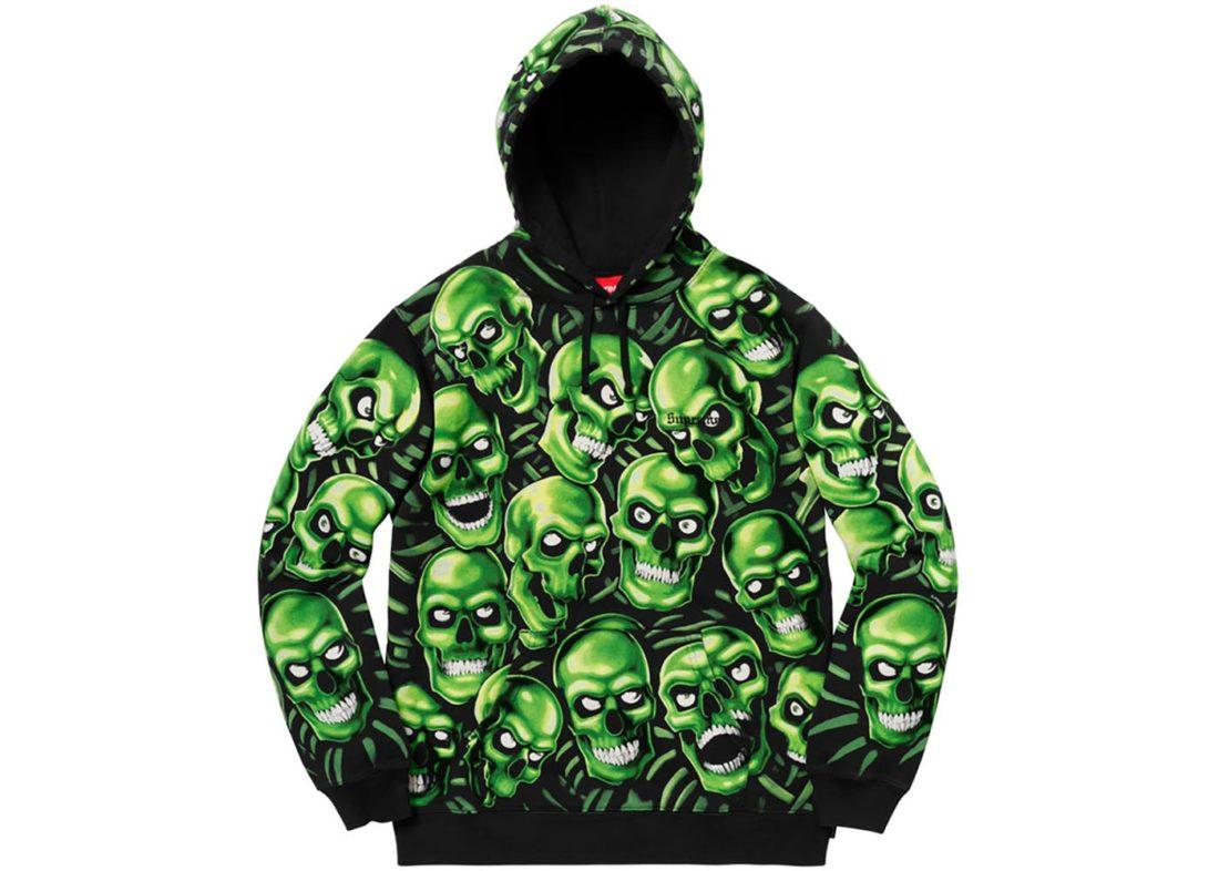 Supreme Skull Pile Hooded Sweatshirt
