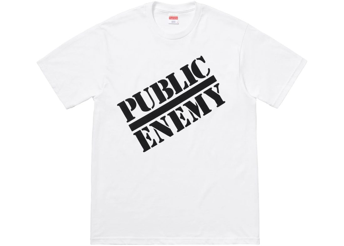 685d7113 Supreme UNDERCOVER/Public Enemy Tee White Spring/Summer 2018