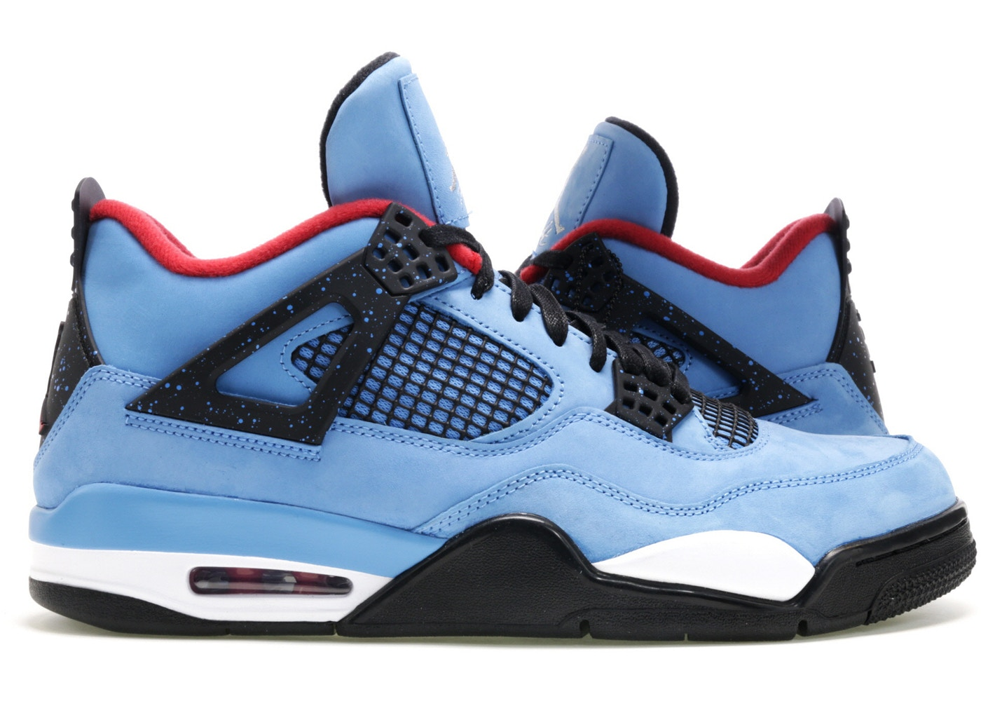 sports shoes a83fa d869f ... greece travis scott x air jordan 4 retro colorway university blue black  varsity red style 308497