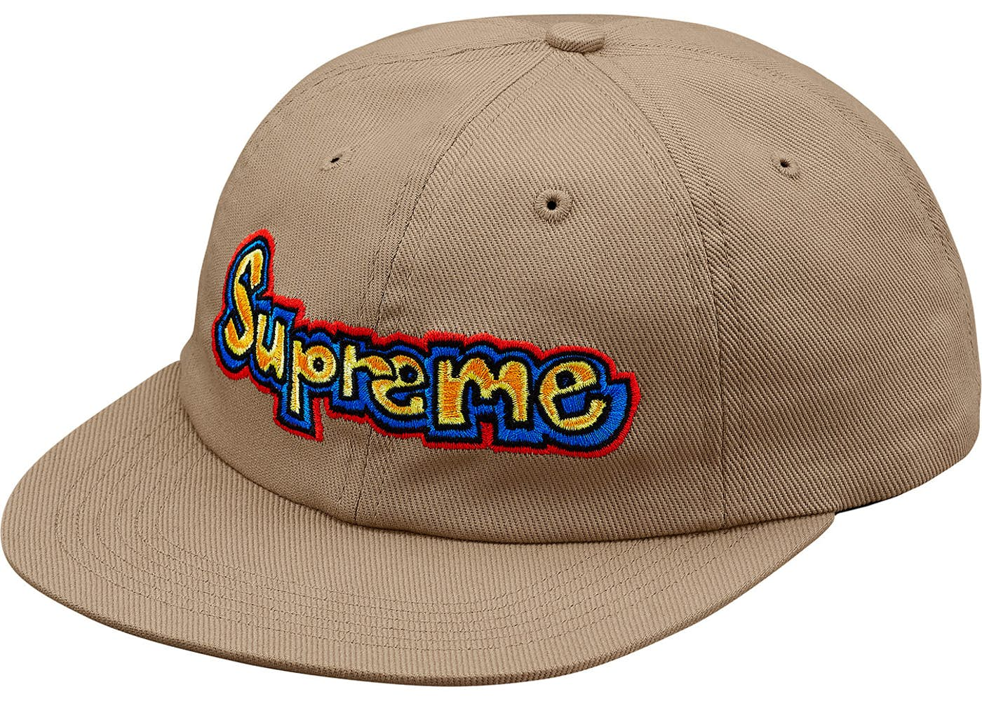 e0802ec3100 Supreme Gonz Logo 6-Panel Tan Spring Summer 2018