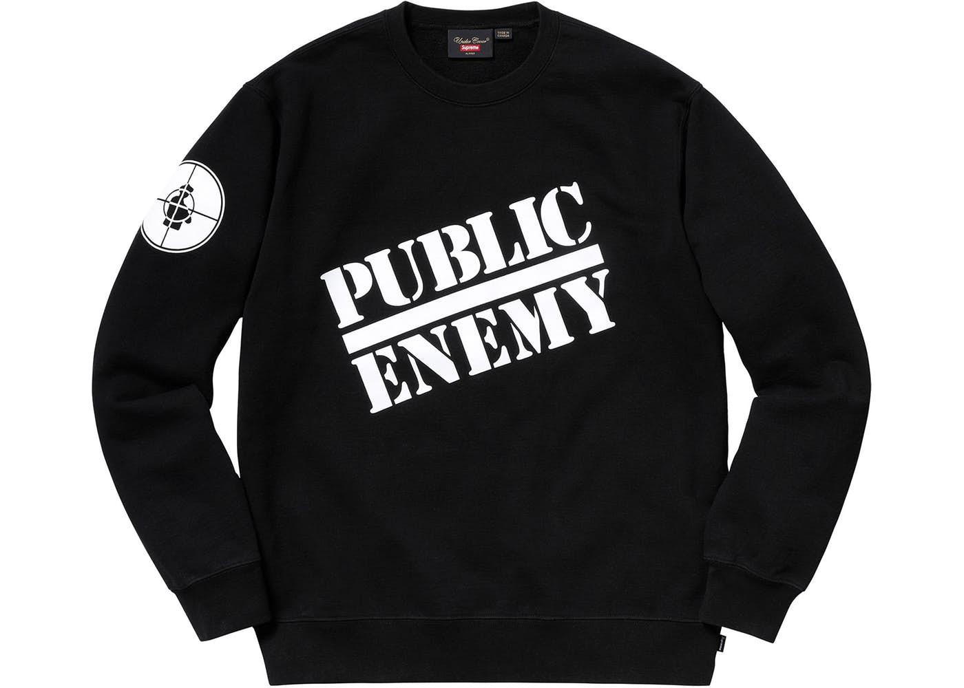 992377aecd73 Supreme UNDERCOVER/Public Enemy Crewneck Sweatshirt Black