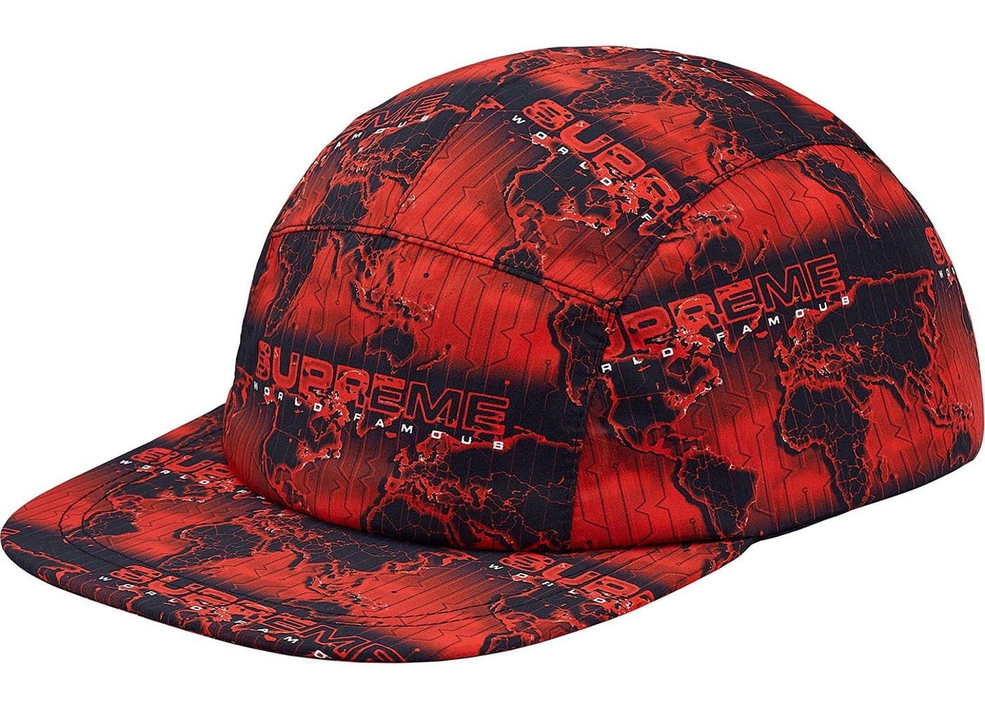 779b2645abe Supreme World Famous Taped Seam Camp Cap Red