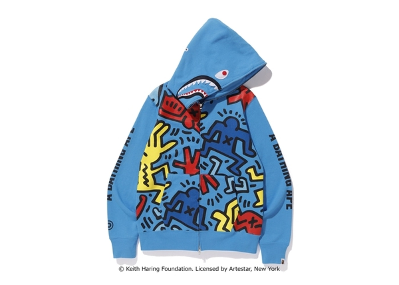 df75ad08 You can buy this Bape x Keith Haring Shark Full Zip Hoodie online today on  StockX. Have this Bape hoodie to sell? List an Ask today on the StockX ...