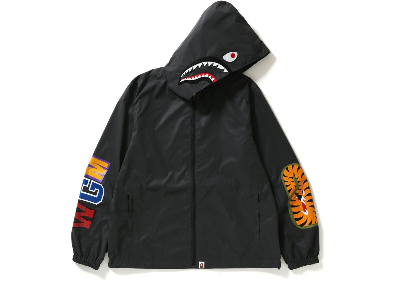 8bb5a28cc5b2 Bape Reflector Shark Hoodie Jacket A Bathing Ape