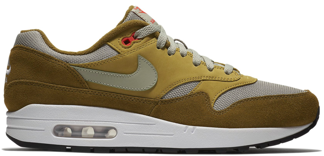 72084118090e84 Atmos Nike Air Max 1 Curry Olive