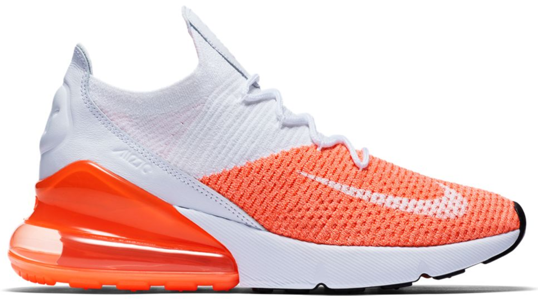 newest 56d61 93fb2 Women's Nike Air Max 270 Flyknit Crimson Pulse