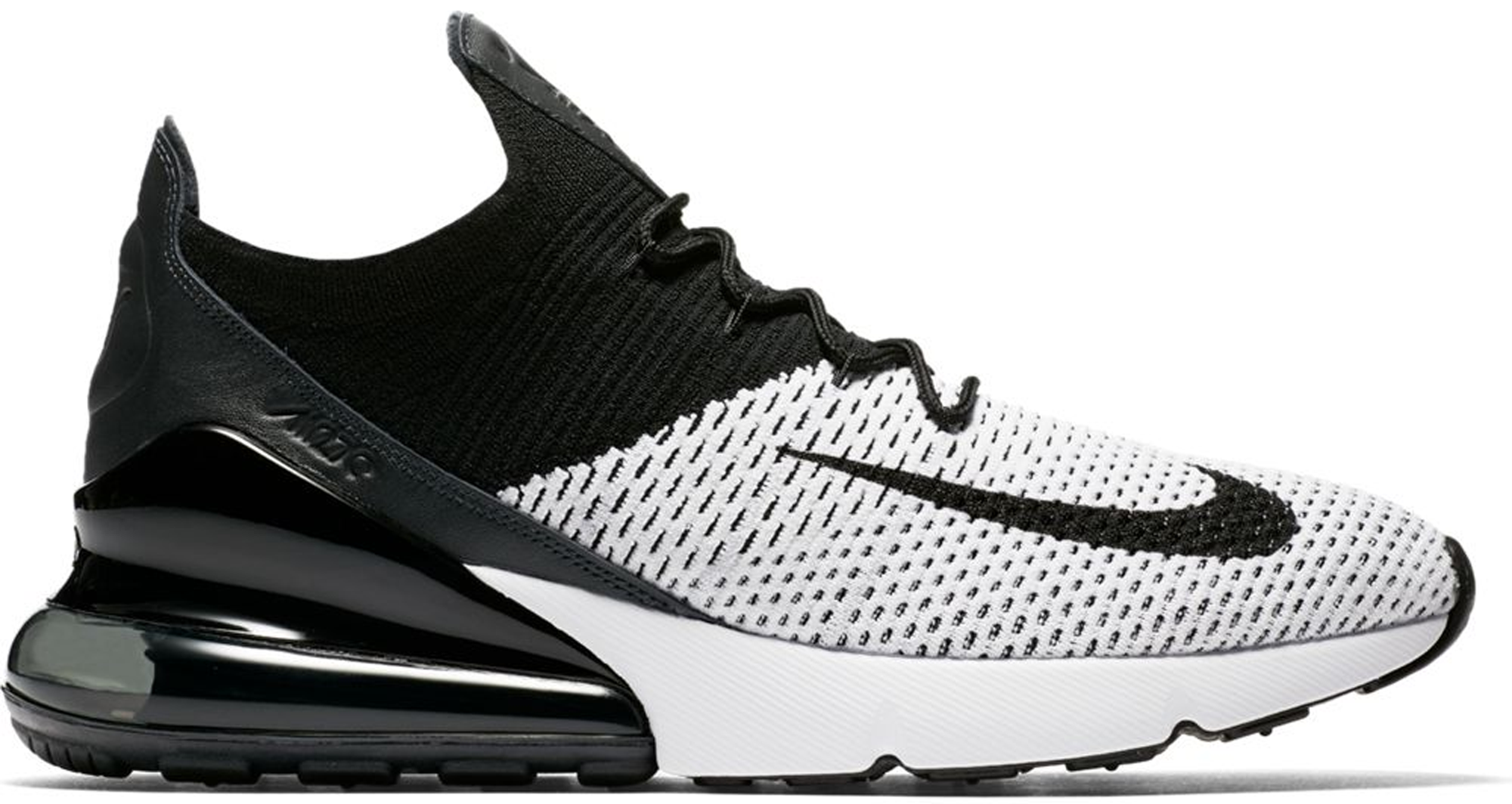 c9277d3967b5 Nike Air Max 270 Flyknit White Black
