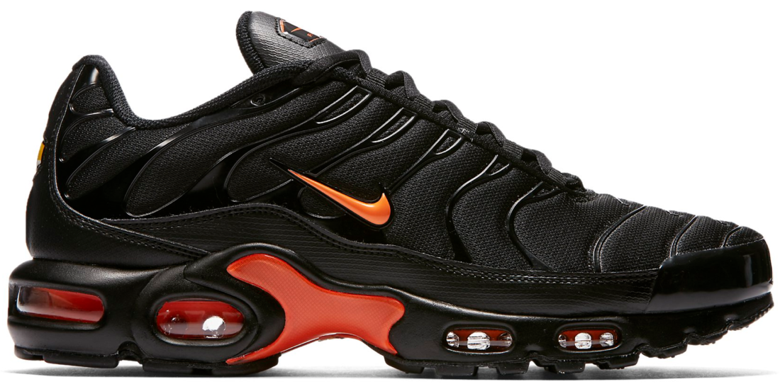 new concept a08b5 62b14 Nike Air Max Plus Black Orange