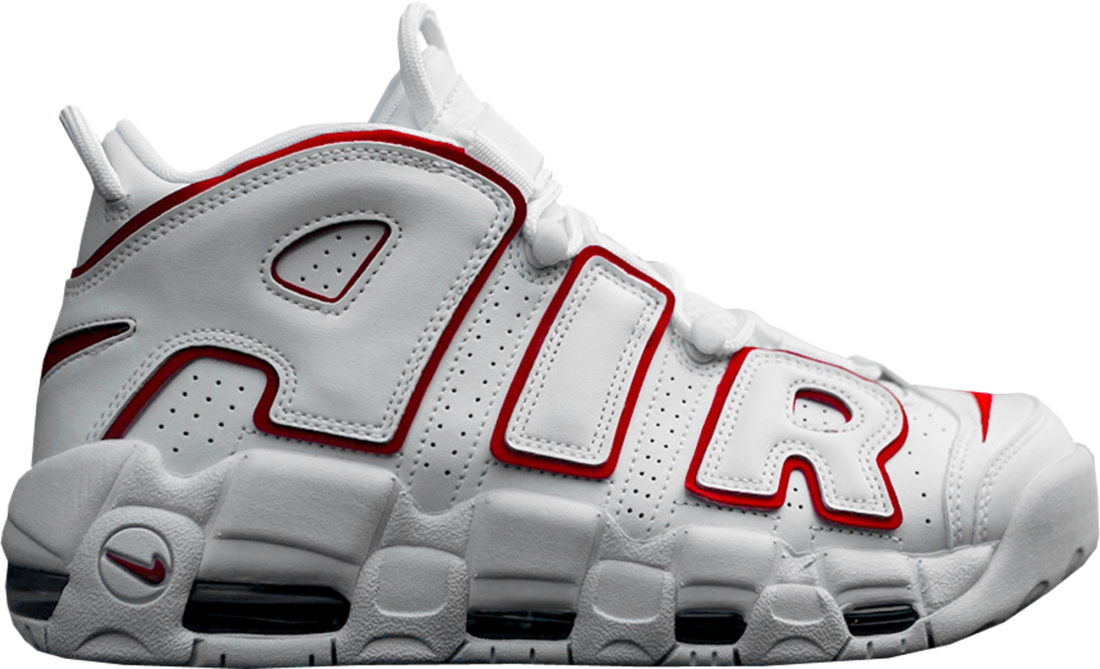 timeless design b83b0 67594 Nike Air More Uptempo White Varsity Red