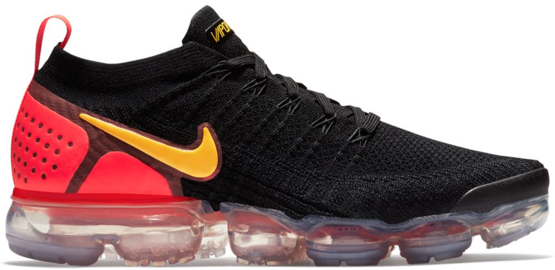 low priced a8130 62e3e Nike Air VaporMax Flyknit 2.0 Black Laser Orange Total Crimson