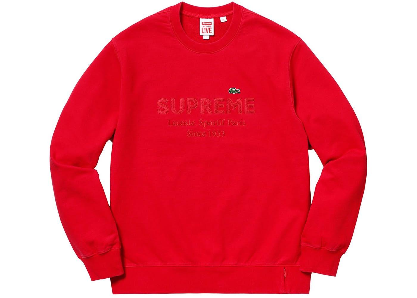 crew sweat Lacoste Logo Sweatshirt in Red jumper
