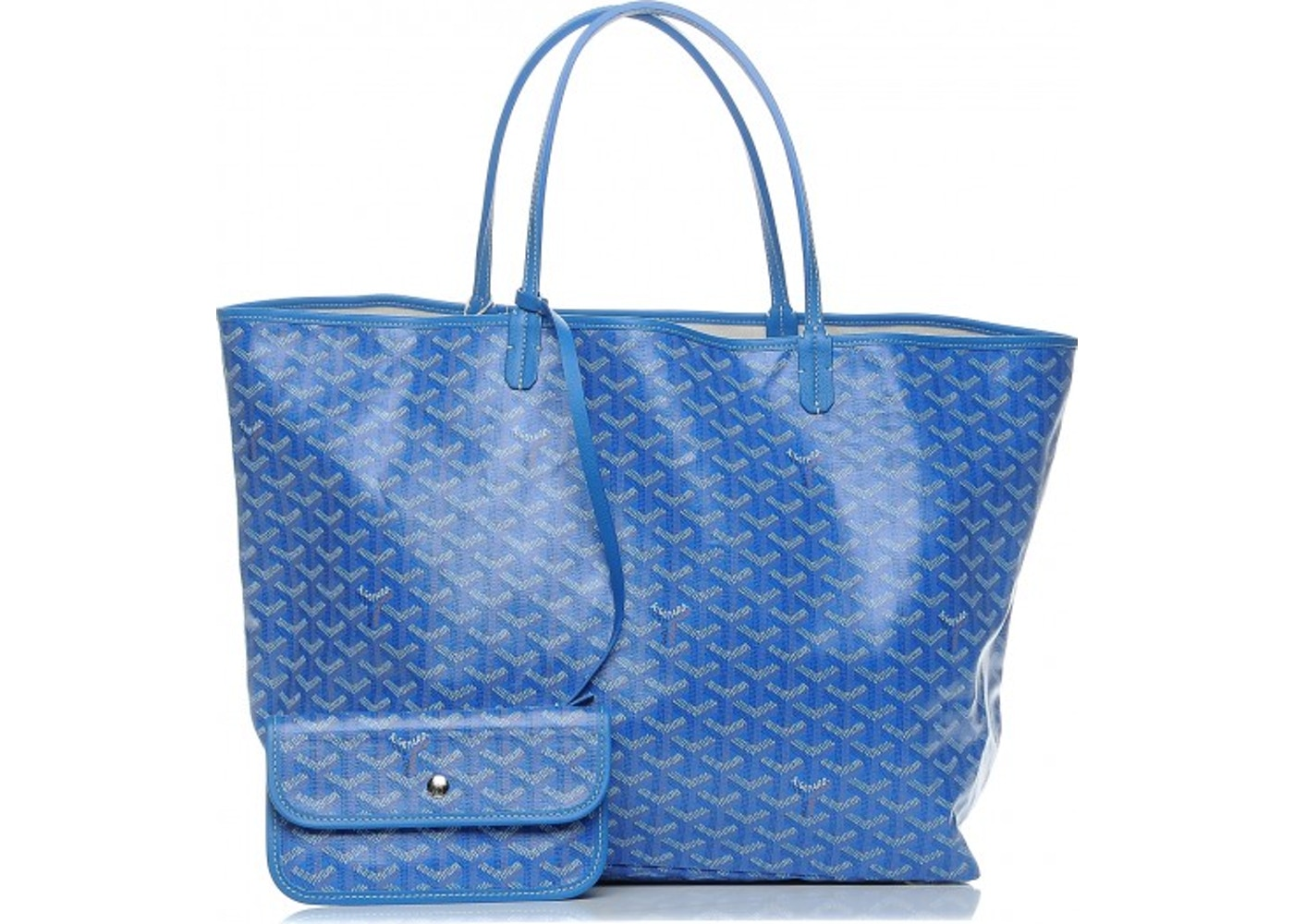 08fa481d532 This blue Goyard tote is a must-have if you are looking for a handbag that  will add a touch of chic to your life all while maintaining a classic