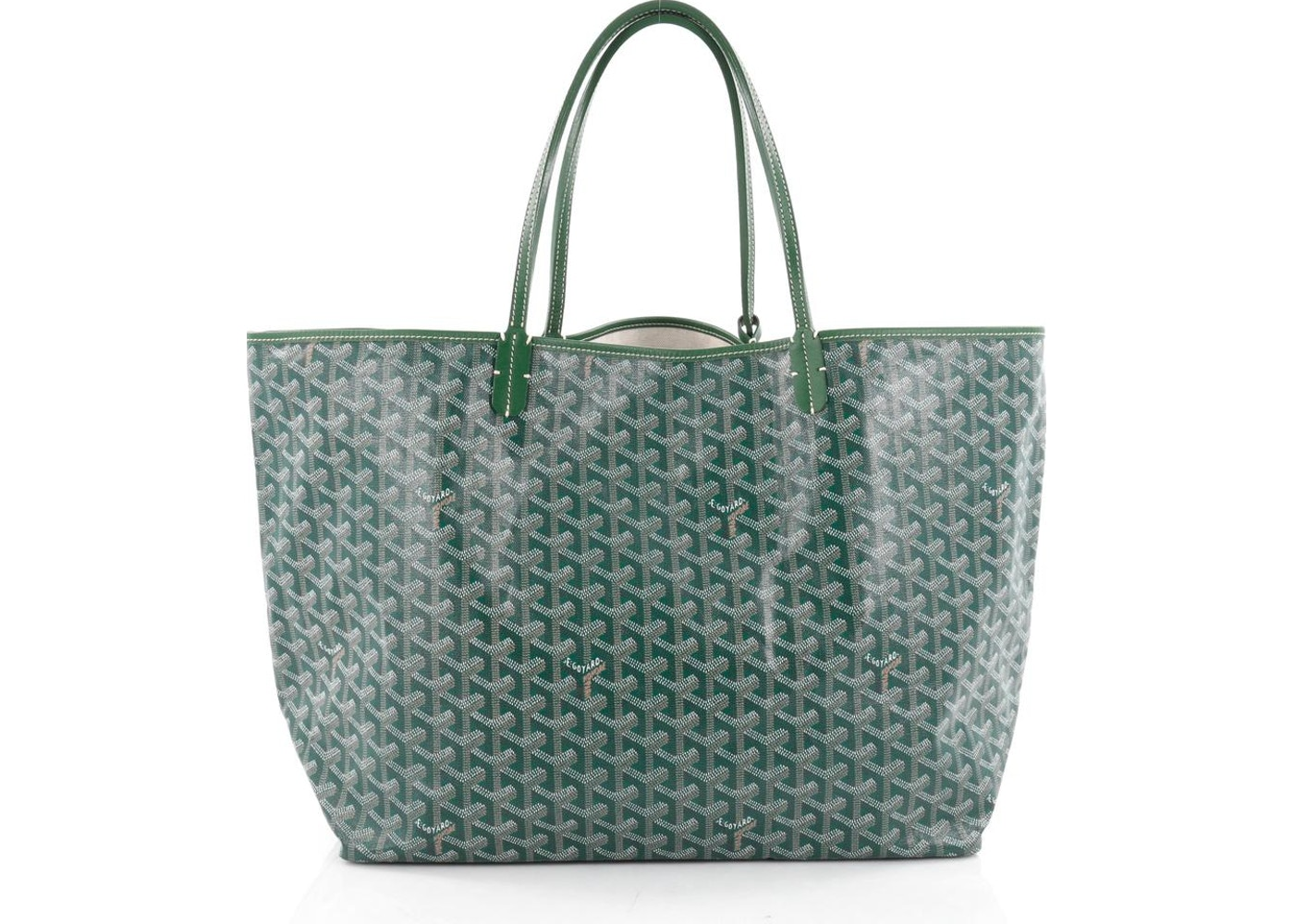 89a70a58655b The green Goyard chevron canvas is one that you can dress up or dress down  depending on the look you are going for. This tote is one that is highly  sought ...