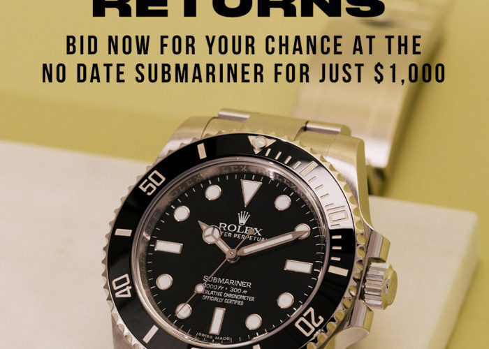 Get The Rolex Submariner ref. 114060 For $1,000