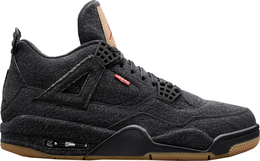80e72ff8e6c545 Levi s Air Jordan 4 Black