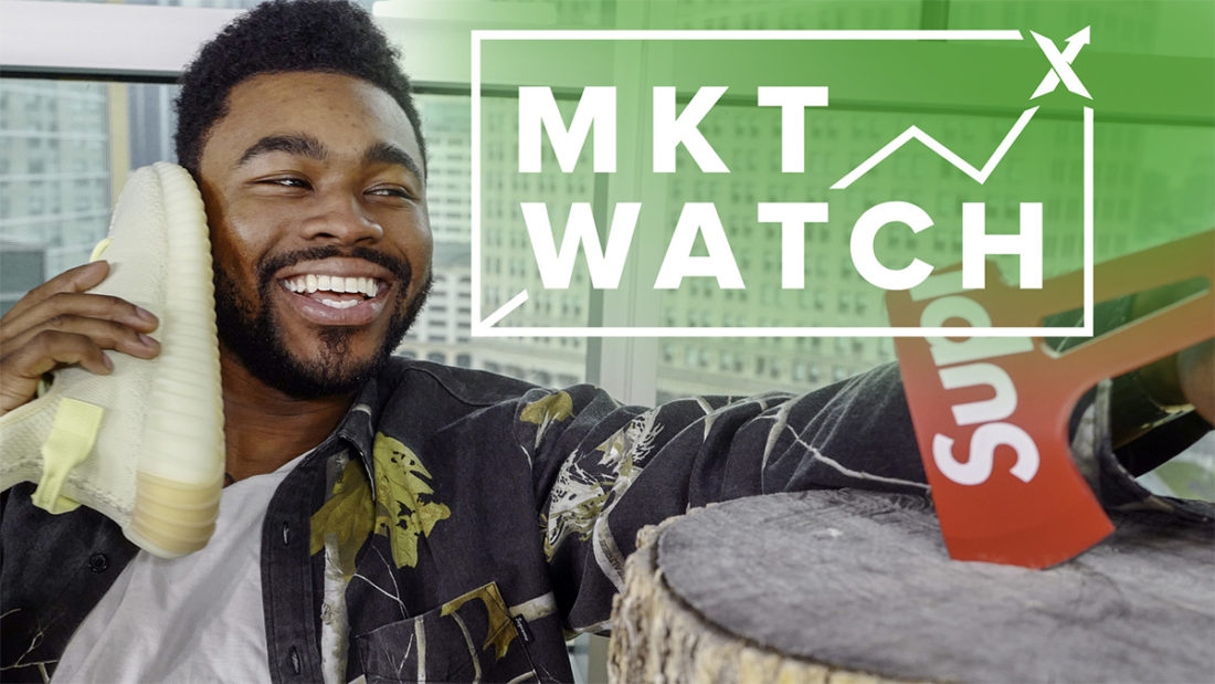 StockX MKT Watch: UNC 1s Go Crazy, Supreme's Axe Stays Sharp, and Yeezy Butters Melt