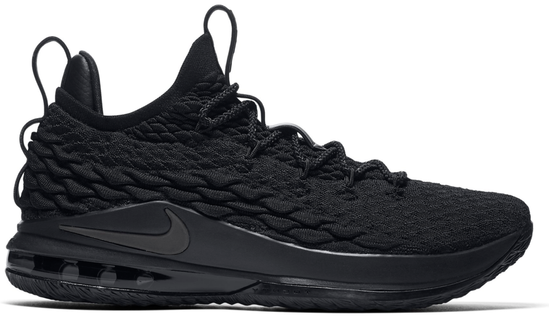 3a4c41f88a8 Nike LeBron 15 Low Blackout