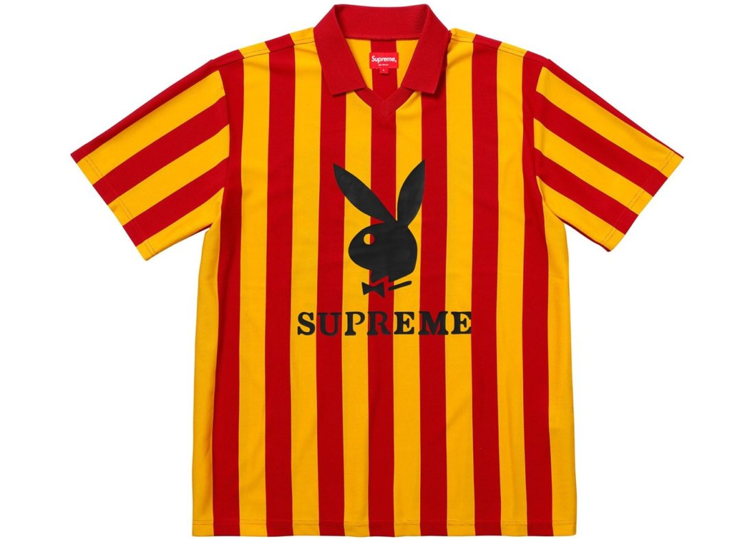 detailed look 23a77 124c3 Supreme Playboy Soccer Jersey Red Yellow - StockX News