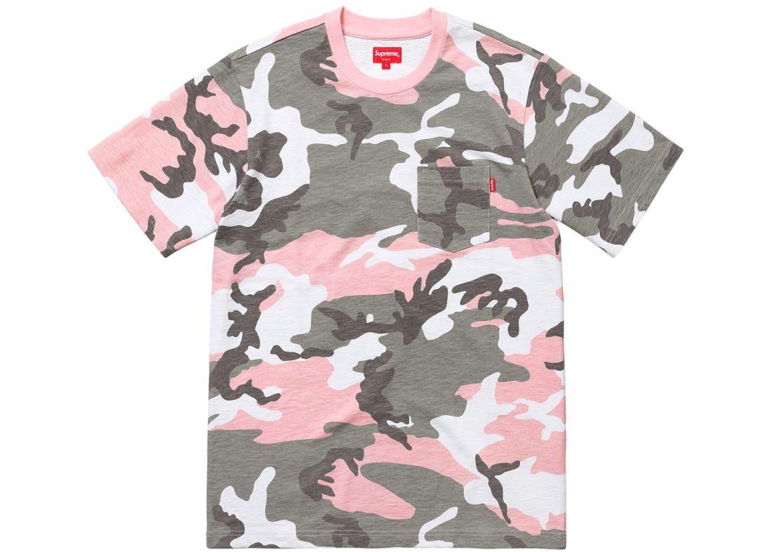 c6902f1b0ec8 Supreme pocket tee pink camo stockx news jpg 1100x786 Pink camo shirts for  women