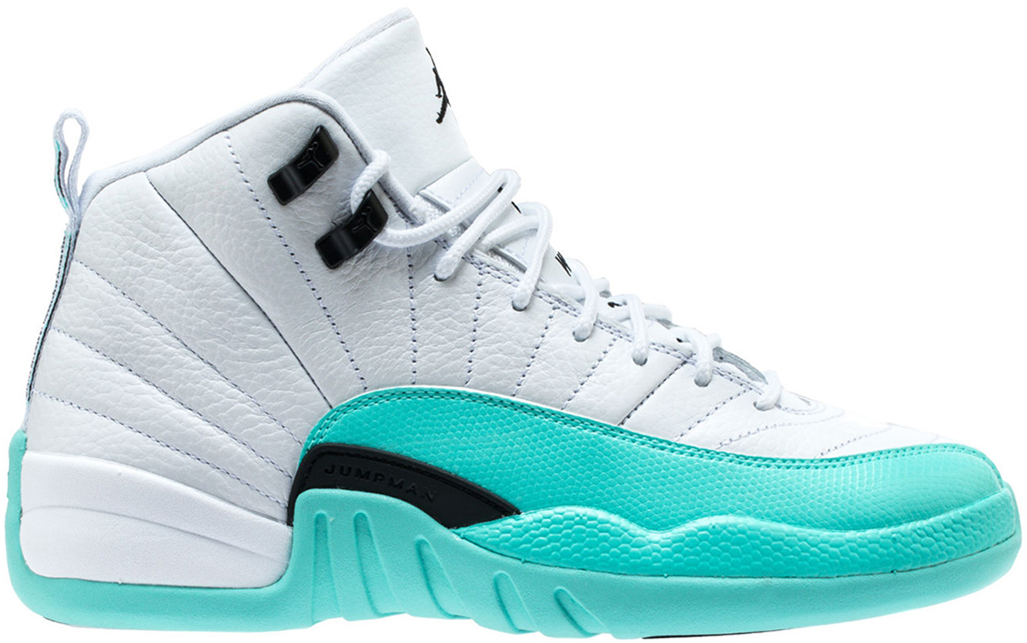 timeless design a6c43 8b1a3 Girls Air Jordan 12 Light Aqua
