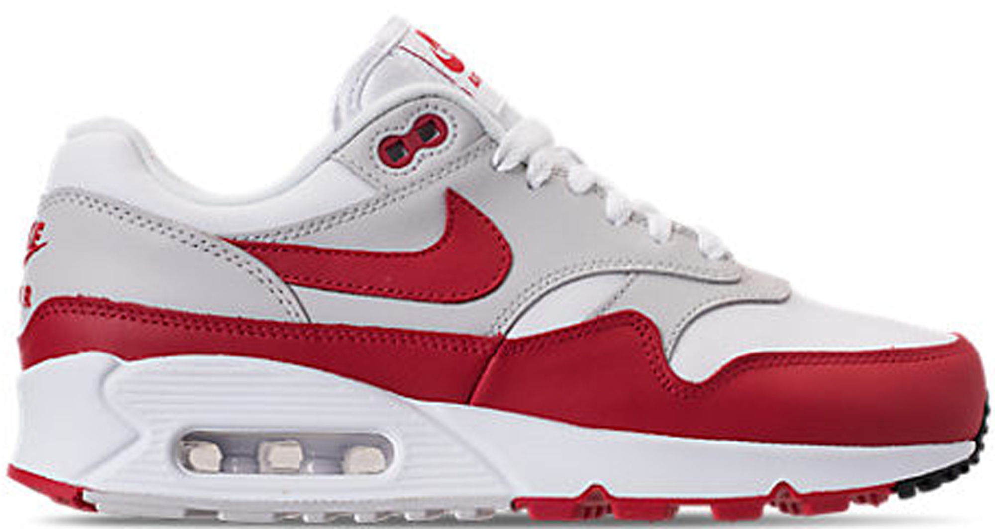 newest 563f9 1093c Women s Nike Air Max 90 1 White University Red