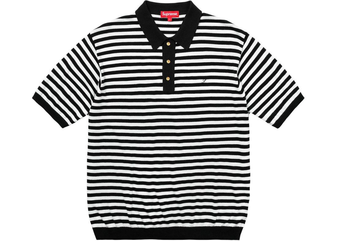 ee1880a35a Supreme Striped Knit Polo White - SS18