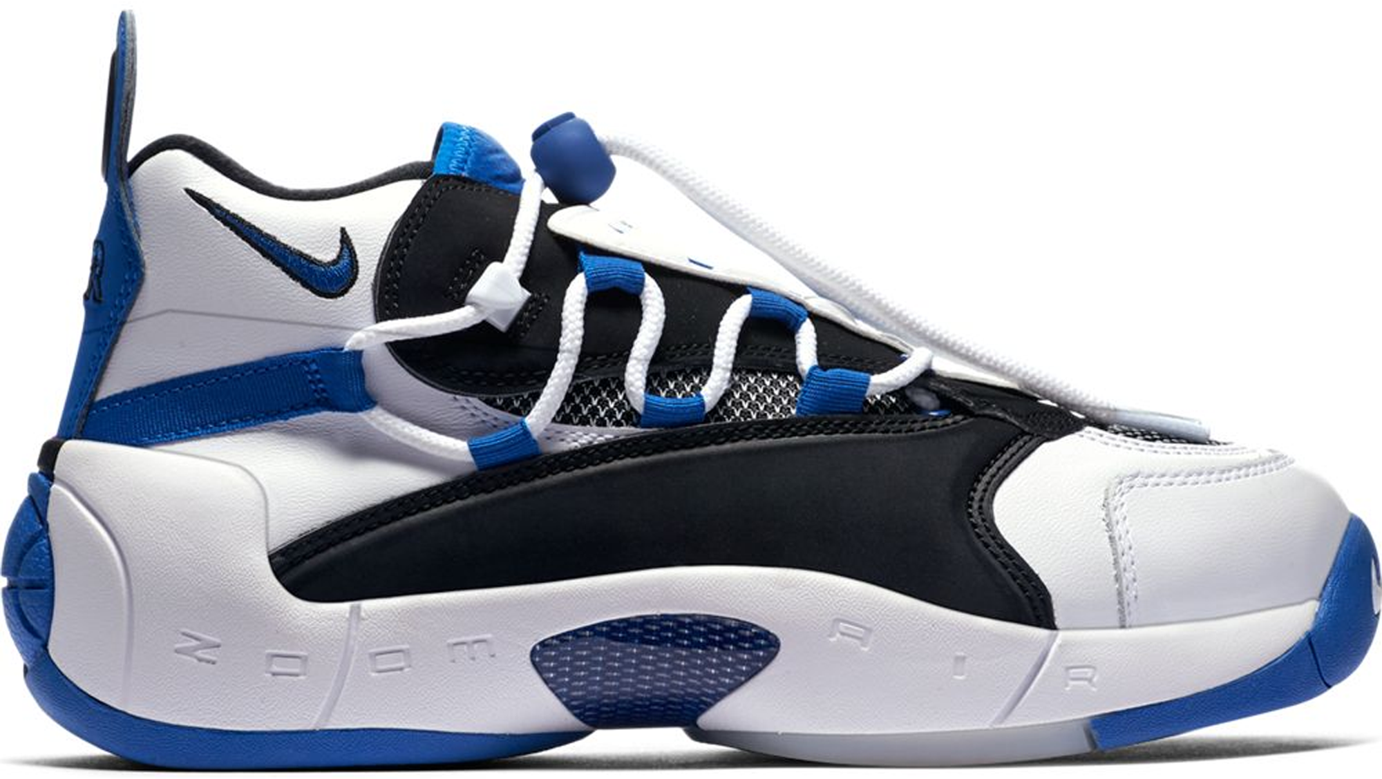 reputable site 0352b a36aa Nike Air Swoopes 2 White Black Royal