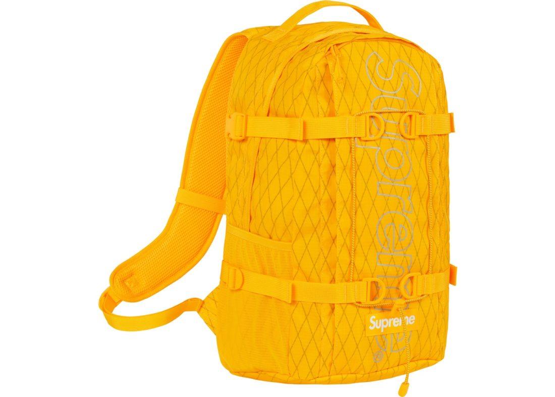 518e76b2 Supreme Backpack (FW18) Yellow - StockX News