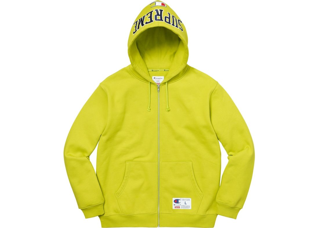 1d9049001be8 Supreme Champion Arc Logo Zip Up Sweat Bright Green