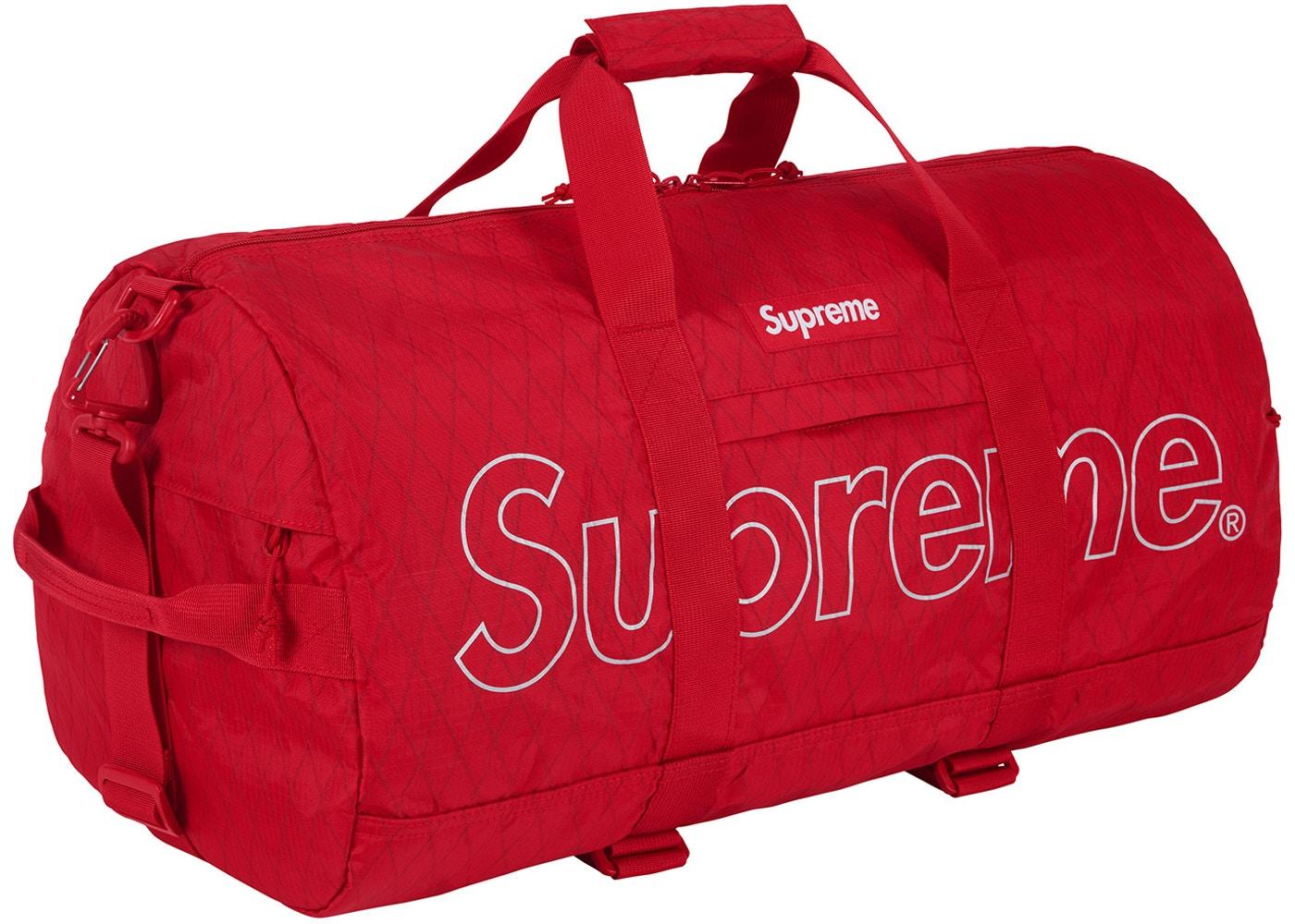Supreme Duffle Bag (FW18) Red - FW18 380a315058e72