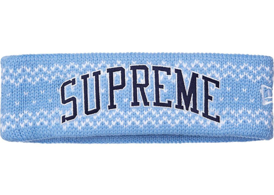 informacje o wersji na ograniczona guantity buty temperamentu Supreme New Era Arc Logo Headband (FW17) Light Blue