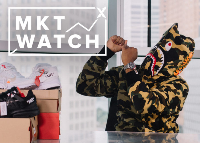 StockX MKT Watch: No-Show Prestos, 3 Stripes & BAPE Go Camo, and Trae Day Charity Campaign Winners.