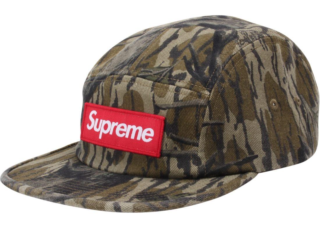 supreme military camo camp cap